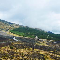 italy sicily summer mountain etna freetoedit