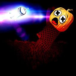 freetoedit pumpkin ufo sighting halloween
