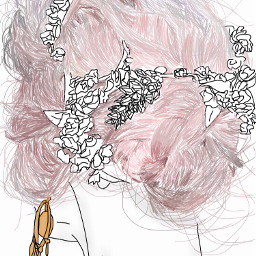 pink pinkhair aesthetic madeit tumblr freetoedit
