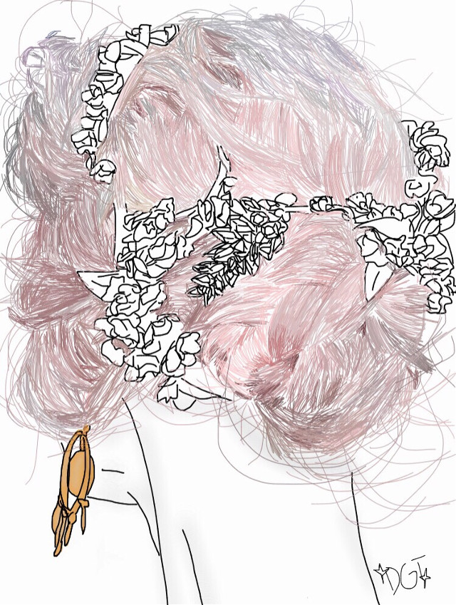 #pink #pinkhair #aesthetic #madeit #tumblr #outline #drawing #tumblroutline #tumblrdrawing #interesting #art #flowers #FreeToEdit