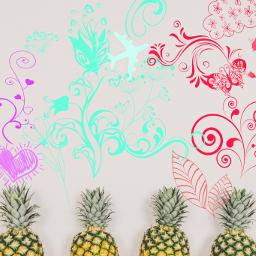 freetoedit pineapple love colorsplash food