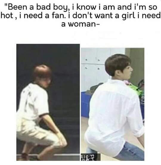 Kookie are you okay?😂 . . - I took this photo of another account, but don't have credits, so I don't know what to do; -;   #bts #jungkook #kookie #blackpink  #boombayah  #meme #kpopmeme #kpopedit