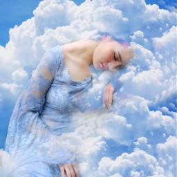 dreams girl picsart sky wapamongtheclouds freetoedit