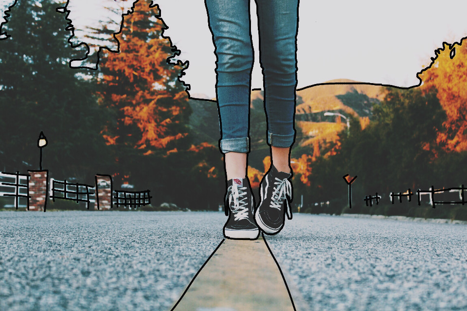 #FreeToEdit #fall #autumn #leaves #leaf #warmcolor #road #street #tree #trees #forests #hills #hill #interesting #feet #legs #person #people 🍂🍁happy fall, yall!!! It just got colder today for me😄super excited🍁🍂