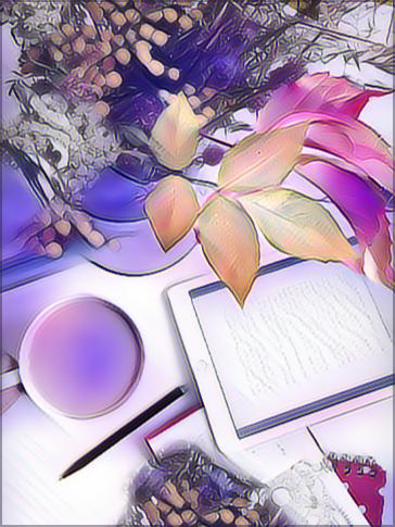 #FreeToEdit #Remix #madewithpicsart #fallleaves #tea #tablet Plus....a bit of #magic 🍃💜