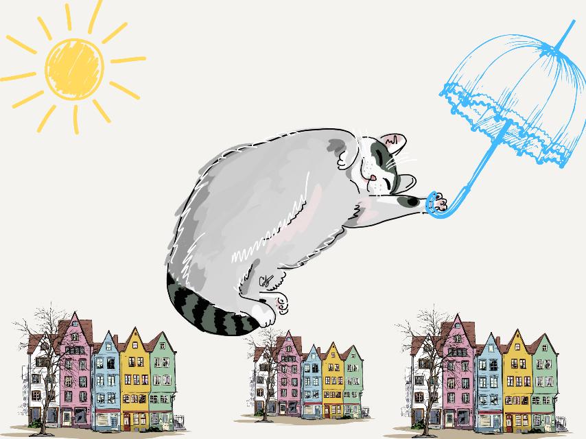 #FreeToEdit  #cat  #gattovolante #colori #cliparts