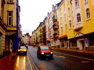 flensburg car houses light photography