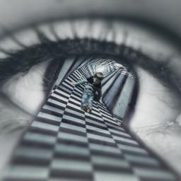 freetoedit eyes doubleexposure surreal