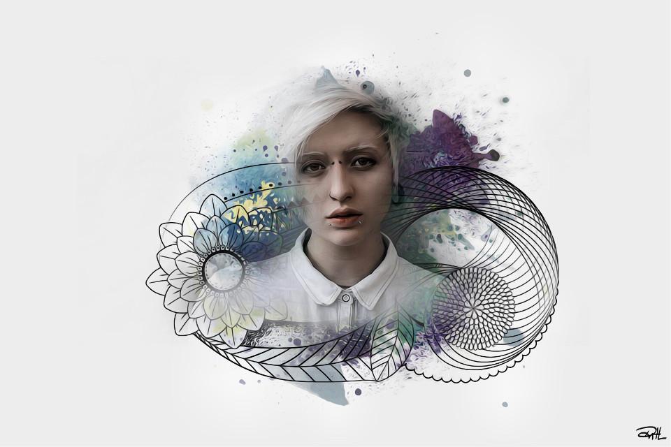 W H I T E 🕊🕊🕊  #FreeToEdit #art #edited #clipart #remix #oilpaintingeffect #portrait #white #people #woman #girl #emotions