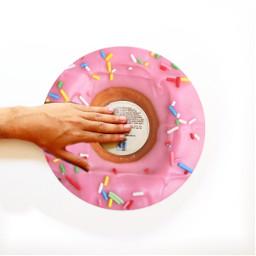 freetoedit donut pinkdonut rainbow rainbowsprinkles