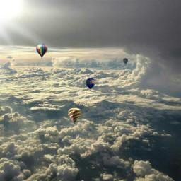 balloon colorful colorsplash blackandwhite love