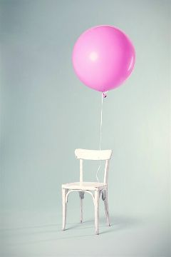 chair balloon pink freetoedit