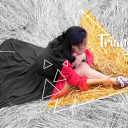 freetoedit remix triangle shape blackandwhite