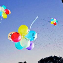 freetoedit balloon sky blue_sky