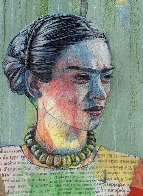 fridakahlo drawing artwork portrait