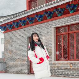 freetoedit girls snow building